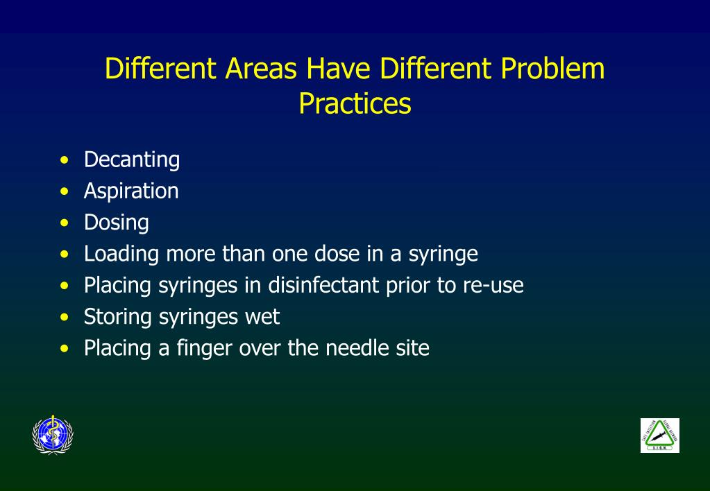 Different Areas Have Different Problem Practices