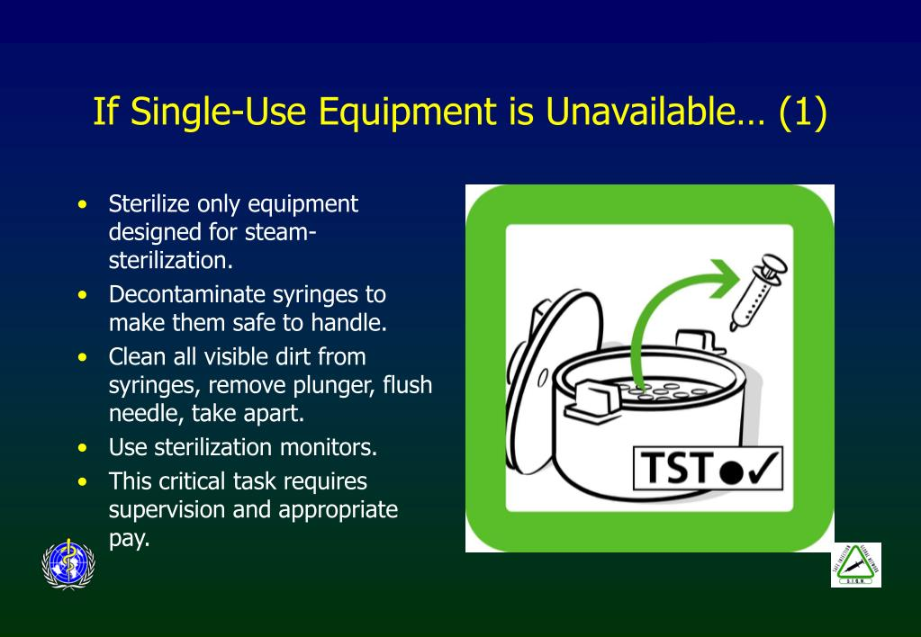 If Single-Use Equipment is Unavailable… (1)
