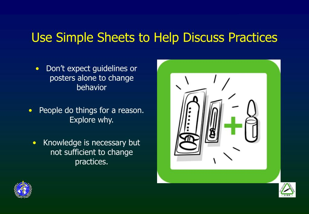 Use Simple Sheets to Help Discuss Practices