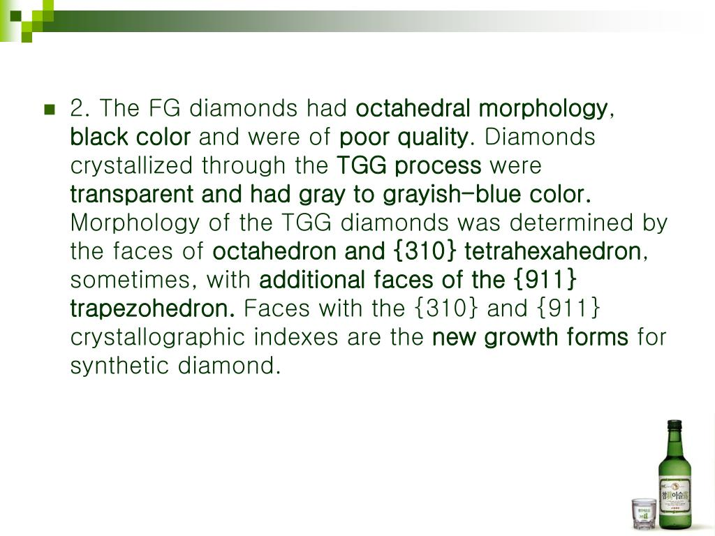2. The FG diamonds had
