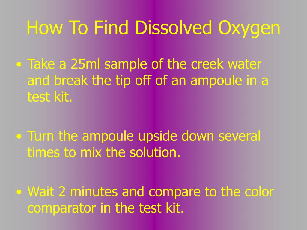 How To Find Dissolved Oxygen