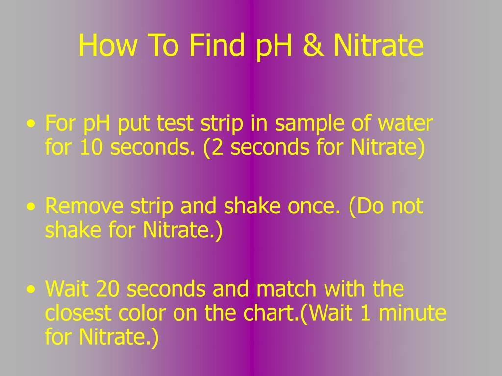 How To Find pH & Nitrate
