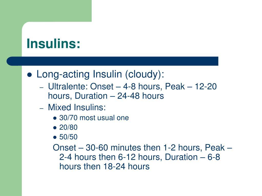 Insulins: