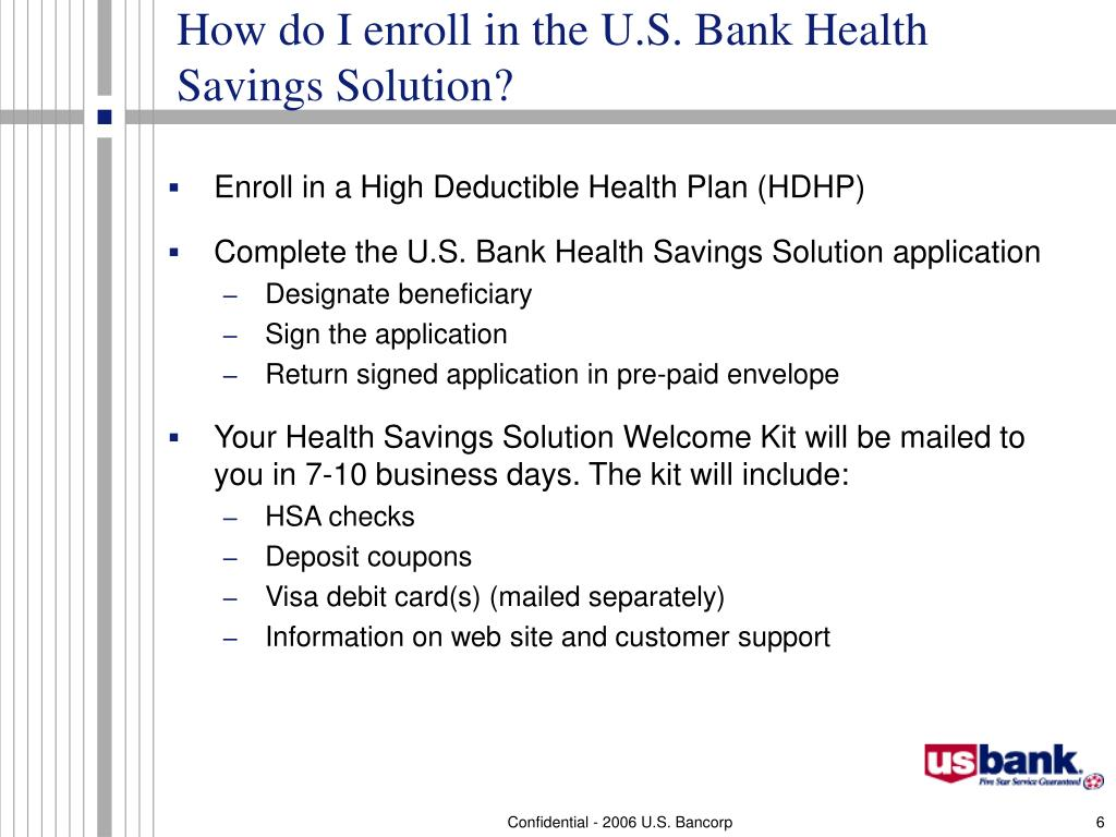 How do I enroll in the U.S. Bank Health Savings Solution?