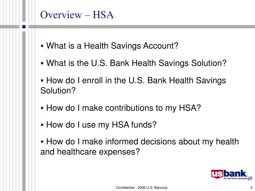 Overview – HSA