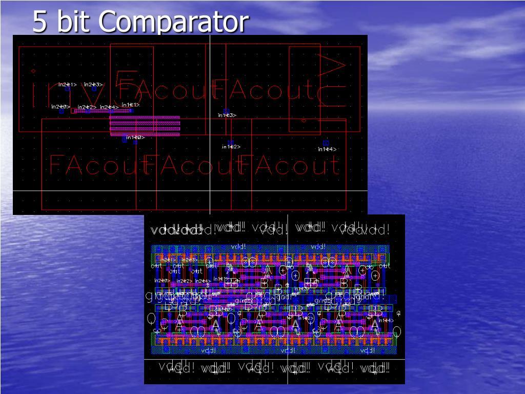 5 bit Comparator