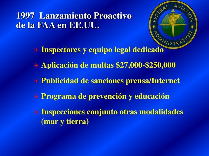 1997  Lanzamiento Proactivo