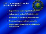 1997 lanzamiento proactivo de la faa en ee uu