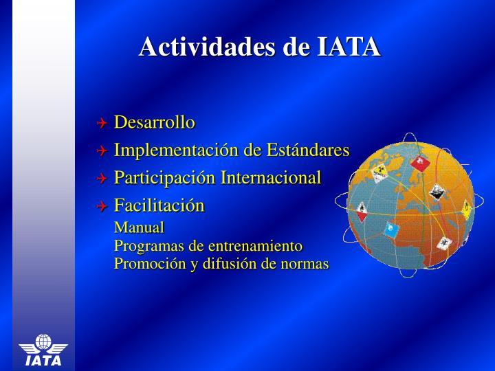 Actividades de IATA