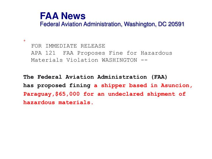 FAA News
