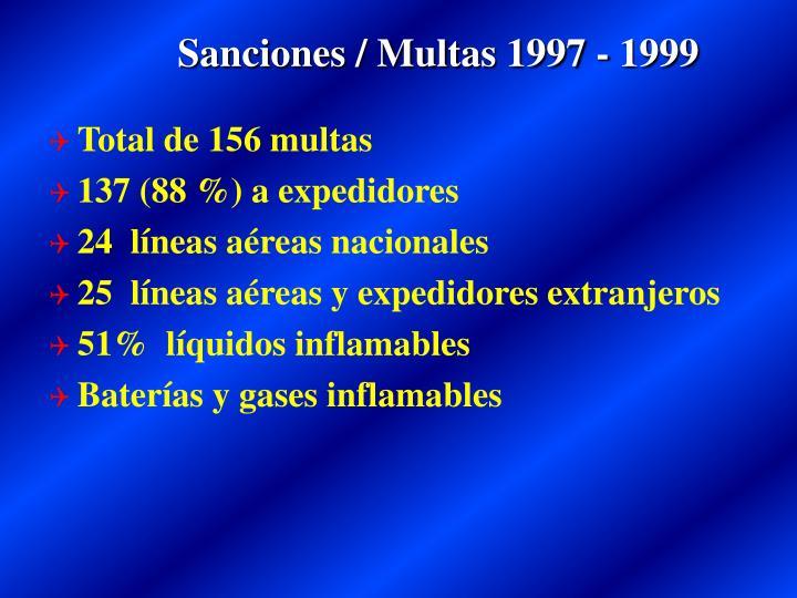Sanciones / Multas 1997 - 1999
