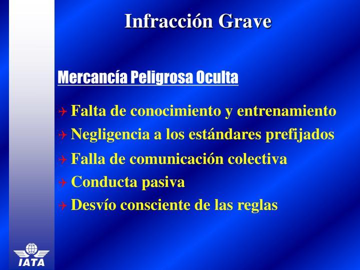 Infracción Grave