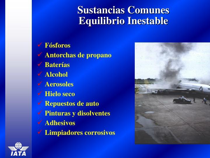 Sustancias Comunes