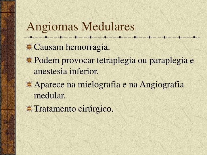 Angiomas Medulares