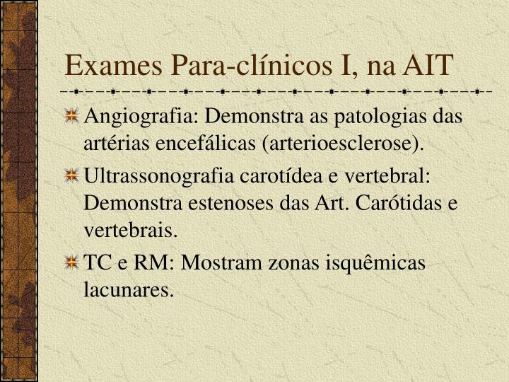 Exames Para-clínicos I, na AIT