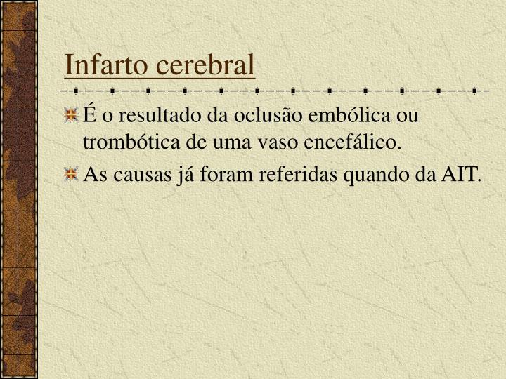 Infarto cerebral
