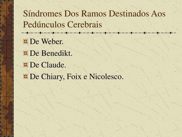 Síndromes Dos Ramos Destinados Aos Pedúnculos Cerebrais