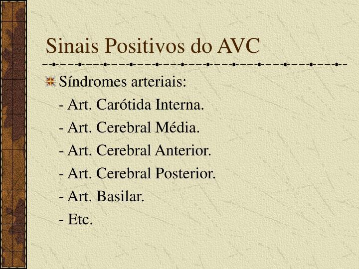 Sinais Positivos do AVC
