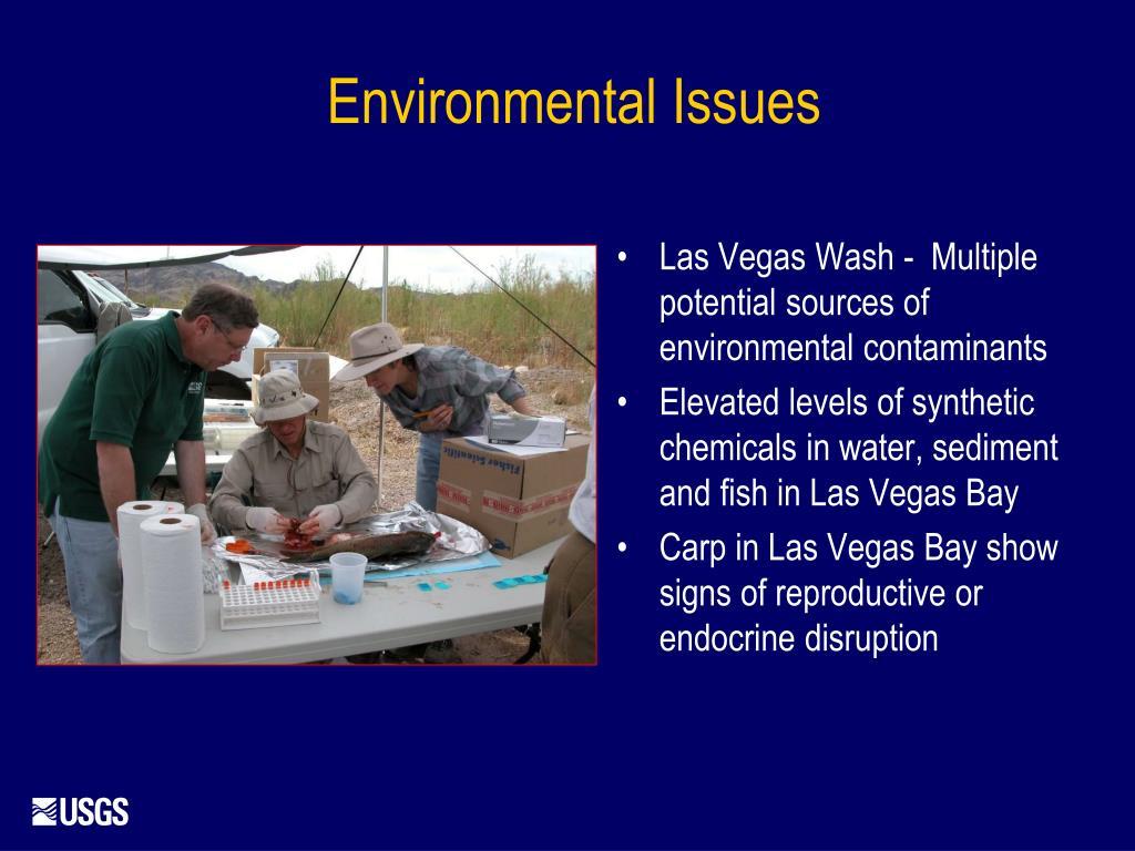Las Vegas Wash -  Multiple potential sources of environmental contaminants