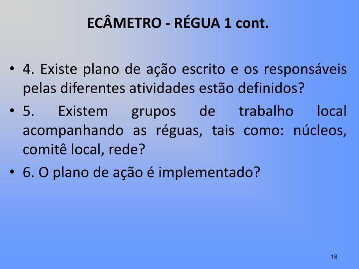 ECÂMETRO - RÉGUA 1 cont.