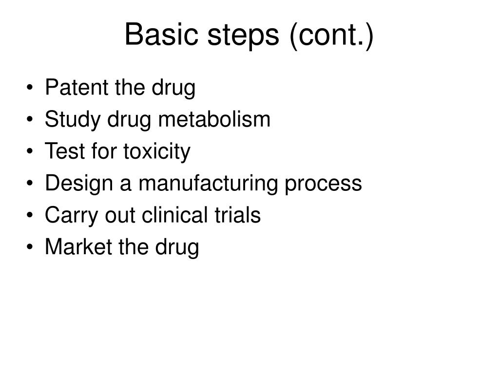 Basic steps (cont.)