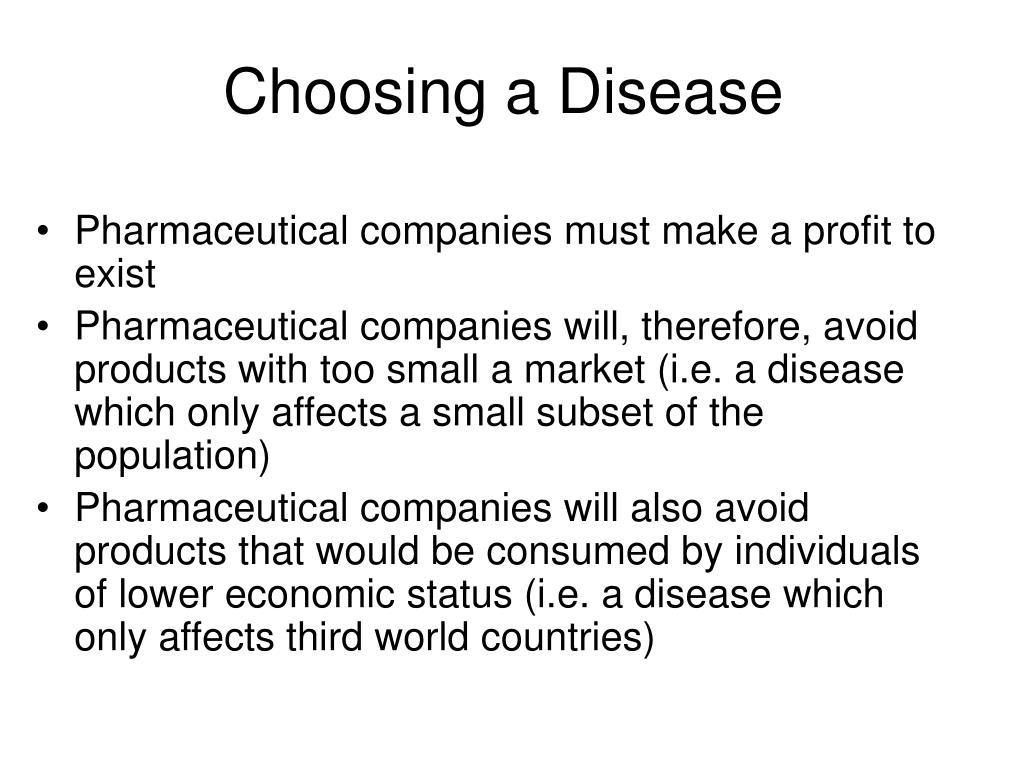 Choosing a Disease