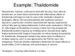 example thalidomide35