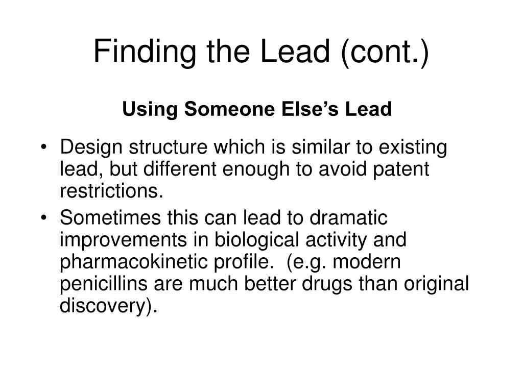 Finding the Lead (cont.)