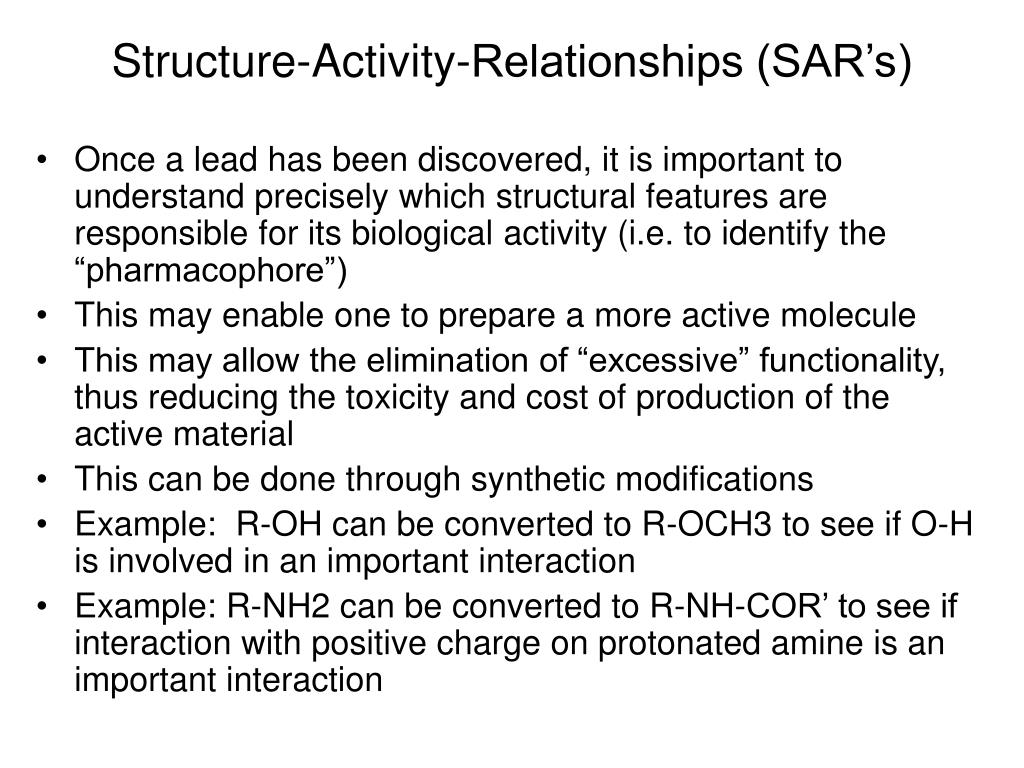 Structure-Activity-Relationships (SAR's)