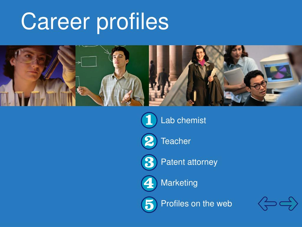 Career profiles