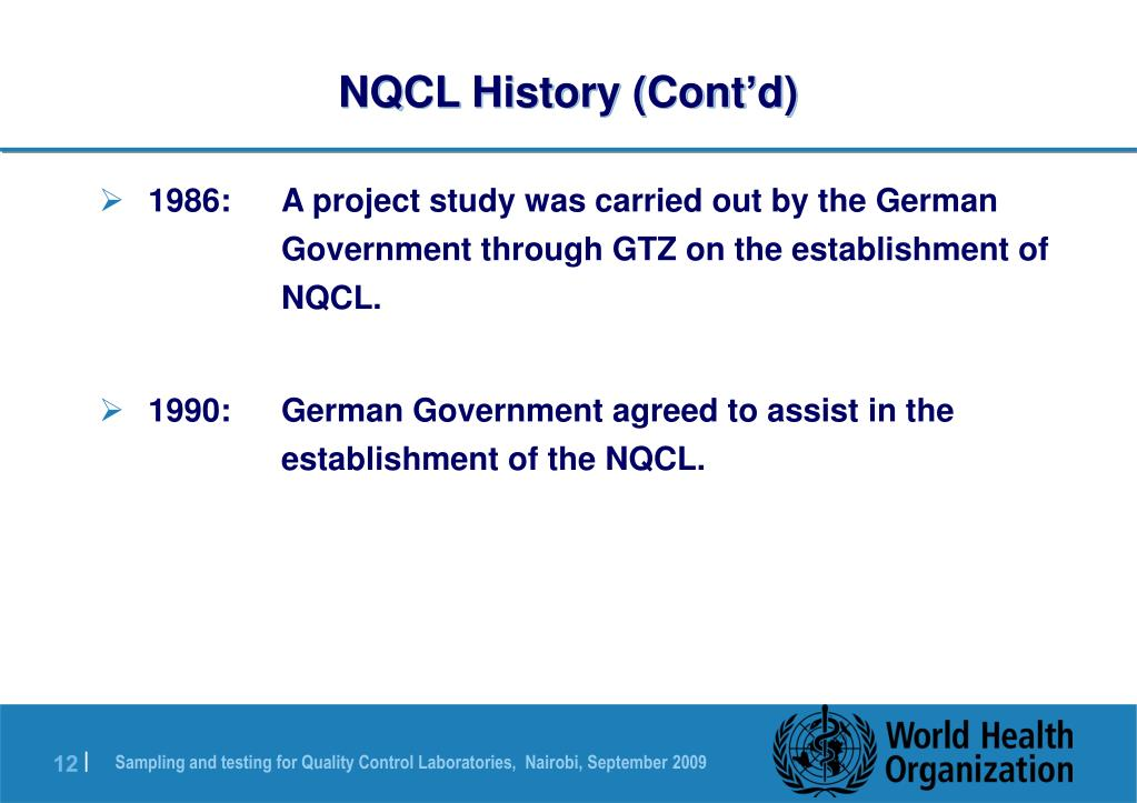 NQCL History (Cont'd)