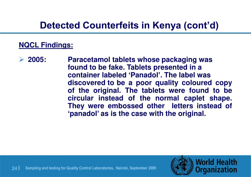 Detected Counterfeits in Kenya (cont'd)