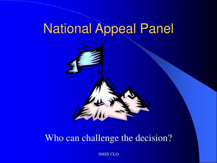 National appeal panel2