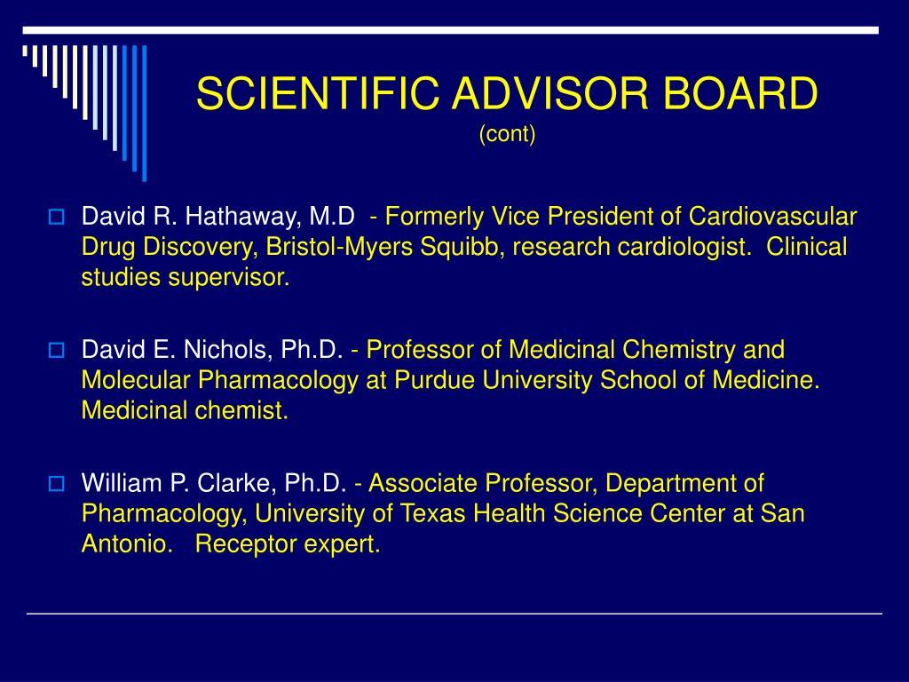 SCIENTIFIC ADVISOR BOARD