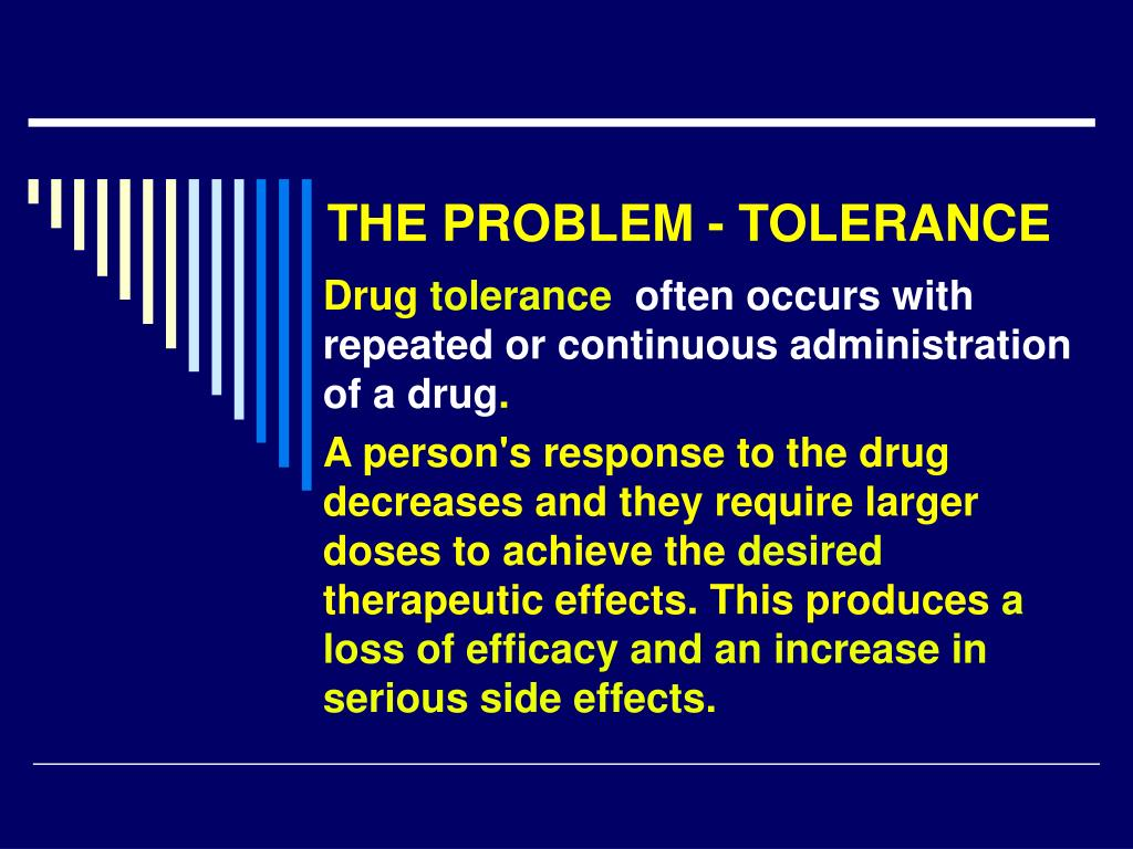 THE PROBLEM - TOLERANCE