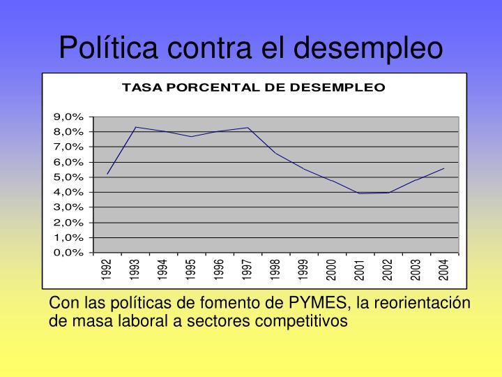 Política contra el desempleo