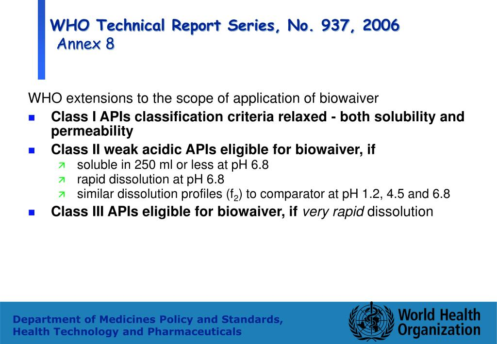 WHO Technical Report Series, No. 937, 2006