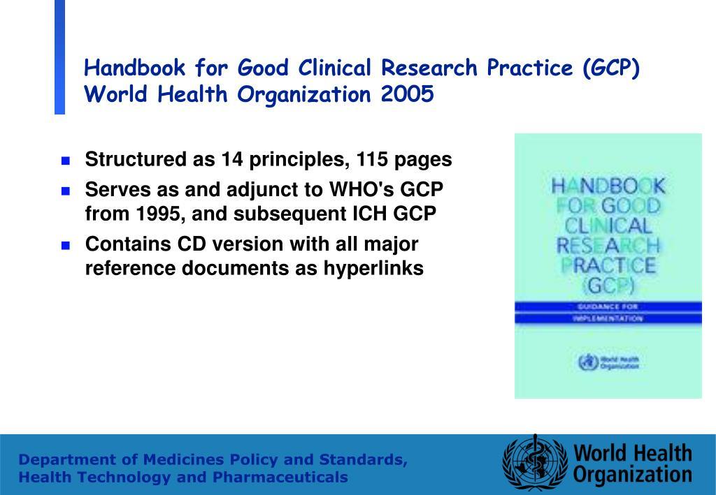 Handbook for Good Clinical Research Practice (GCP)