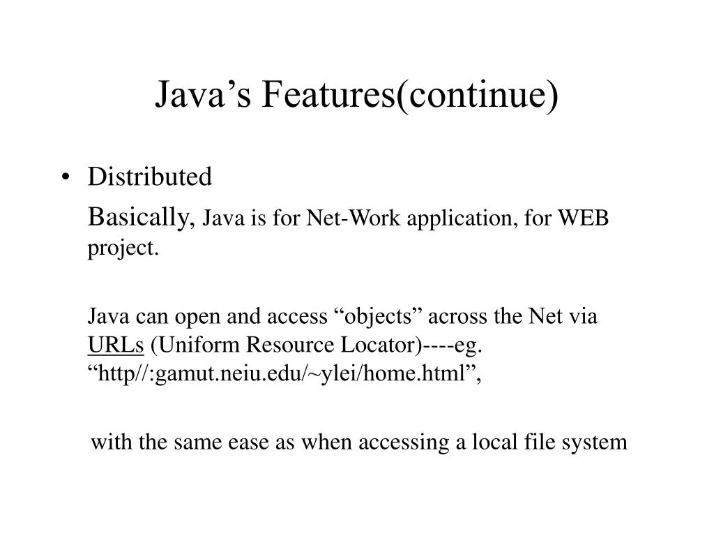 Java's Features(continue)