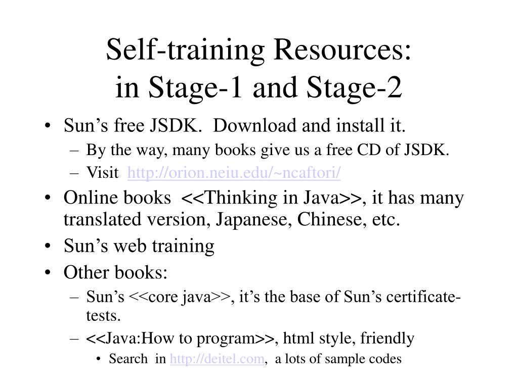 Self-training Resources: