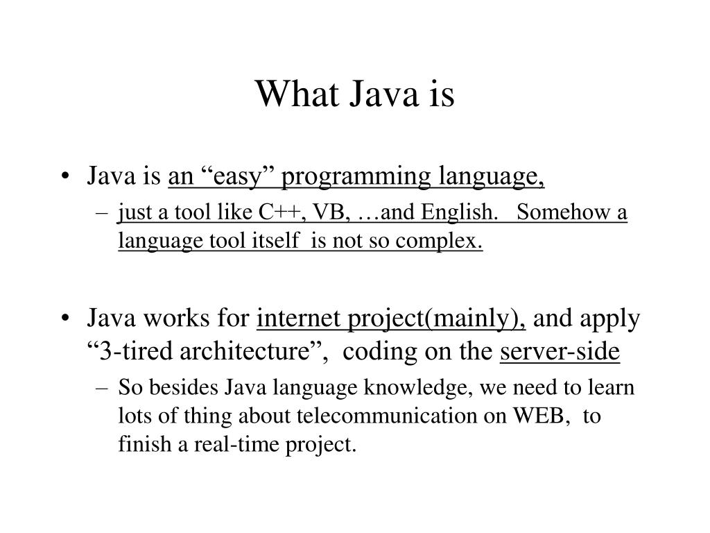 What Java is
