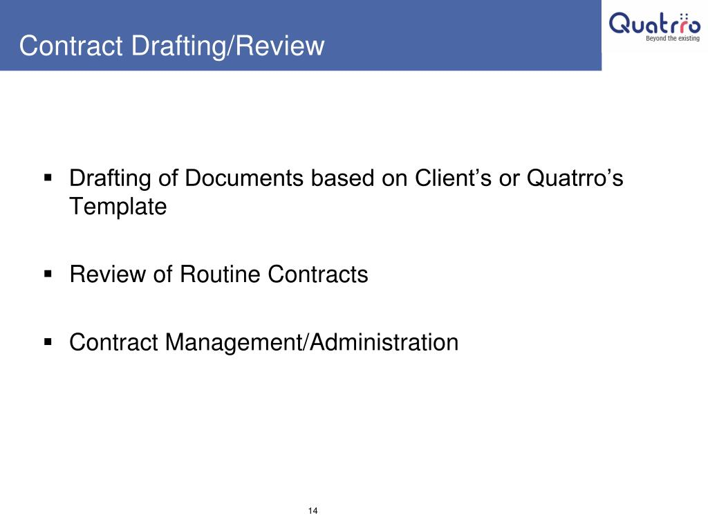 Contract Drafting/Review