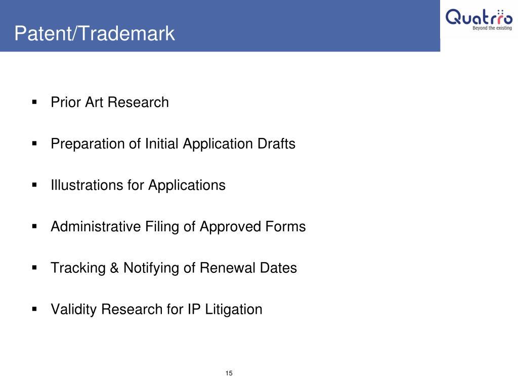 Patent/Trademark