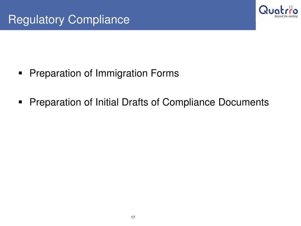 Regulatory Compliance