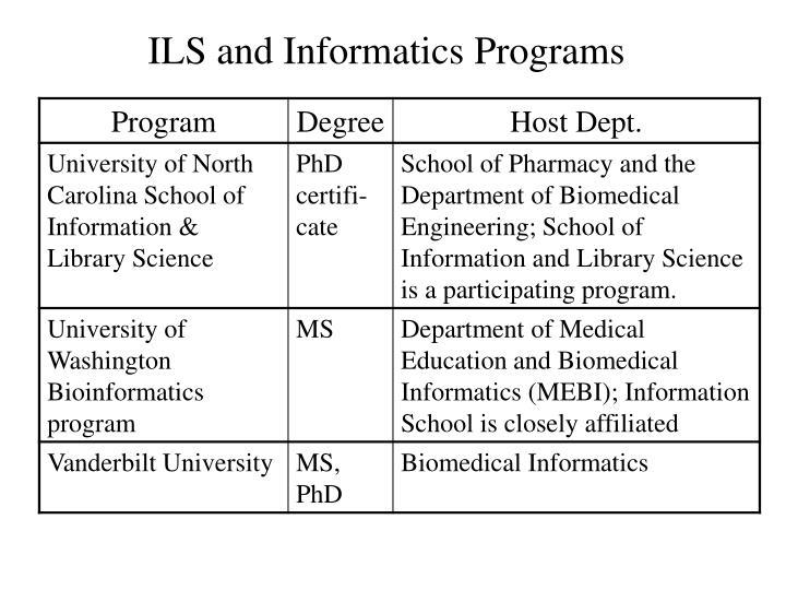 ILS and Informatics Programs