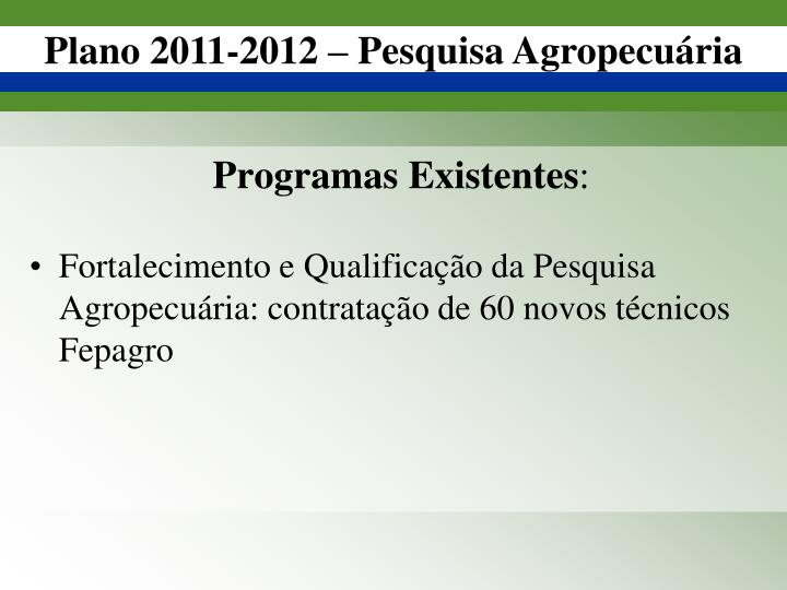 Programas Existentes