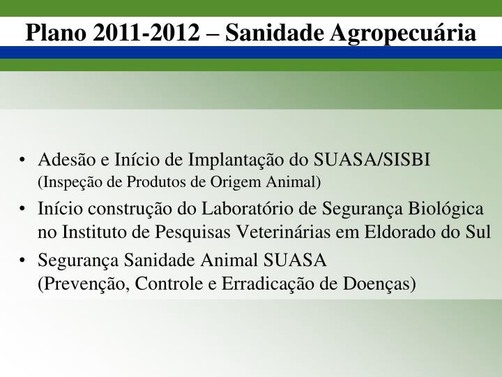 Adesão e Início de Implantação do SUASA/SISBI