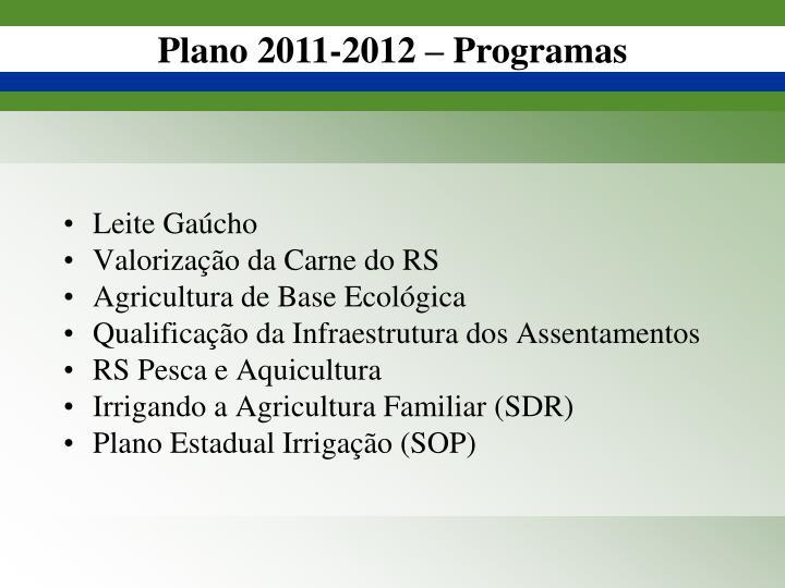 Plano 2011-2012 –