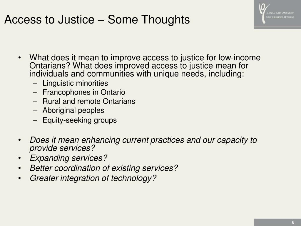 Access to Justice – Some Thoughts