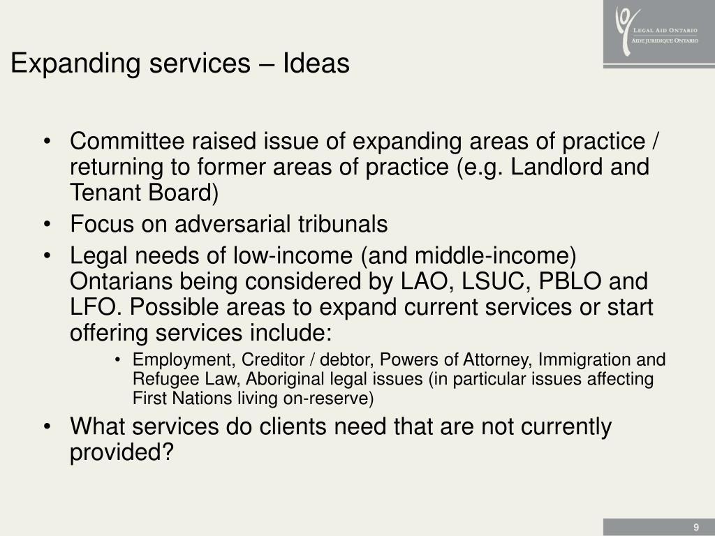 Expanding services – Ideas
